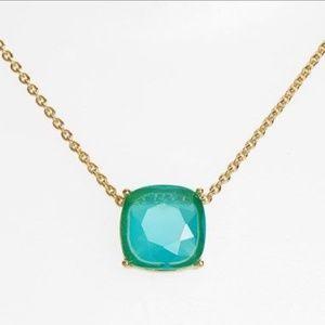 Kate Spade Cause A Stir Aqua Blue Gumdrop Necklace